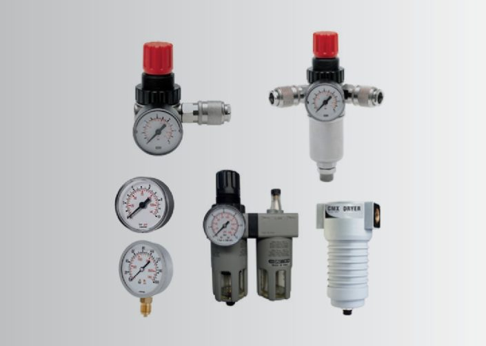 FRL UNITS FOR AIR TREATMENT – MANOMETERS MADE OF ABS AND STAINLESS STEEL 304