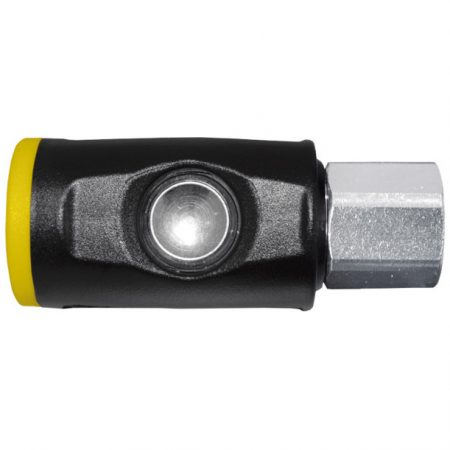 GERMAN PROFILE - COUPLING SOCKETS WITH SAFETY PUSH BUTTON